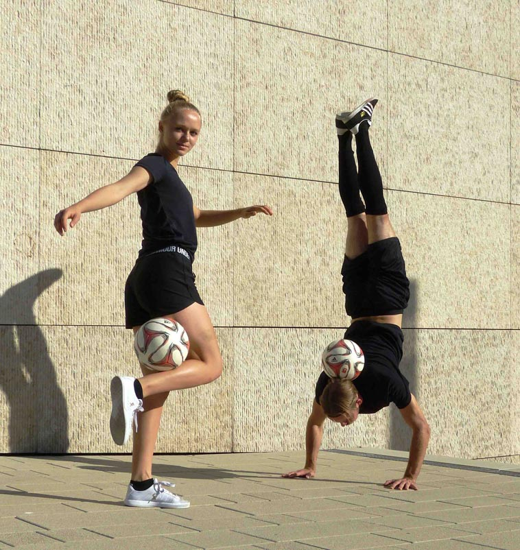 fußball freestyle mixed duo show